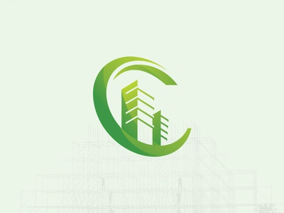 Construction - Building Logo Design illustration design gradient gradient logo minimal unique logo modern logo flat logo company abirhossainsajul sajul2590 minimal logo branding building logo logo