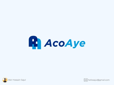 A+A lettermark Logo Design minimal unique logo design blue a letter logo a letter abirhossainsajul sajul2590 modern unique flat logo modern logo lettermark logo branding illustration