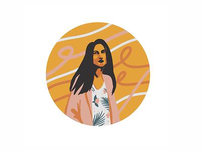 Portrait orange vectorart portrait girl procreate digital illustration digitalart illustration