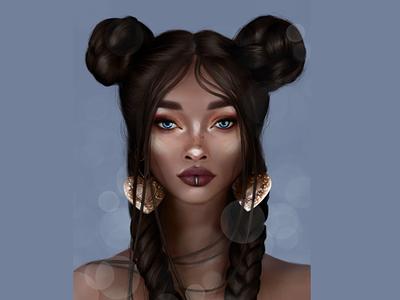 Girl portrait art girl portrait digital painting digital art procreate digital illustration digitalart illustration