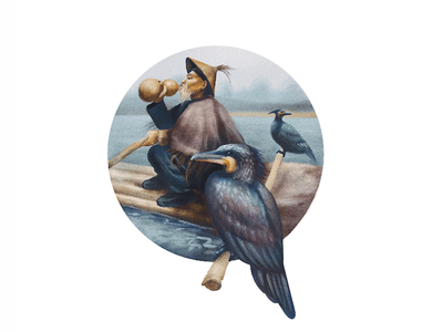 Fisherman digital painting digital art procreate digital illustration digitalart illustration