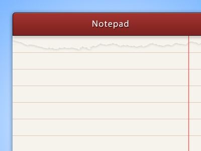 Notepad notepad psd