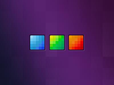 New Logo multicolor logo square concept
