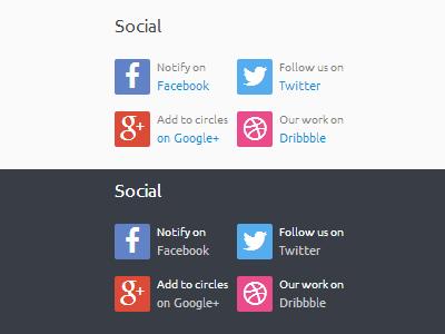 Footer Social Widget footer social widget wordpress light dark facebook twitter google plus dribbble
