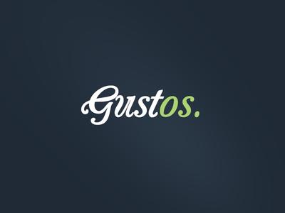 Gustos Logo logo script food recipe