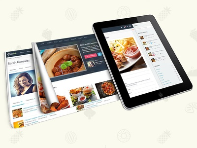 """Gustos - The complete UI for a """"recipe website"""" food recipe html"""