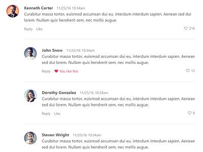 Comments design web comments comment