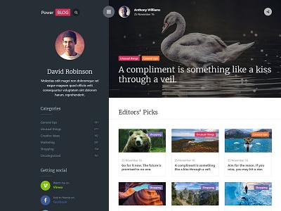 PowerBlog modern article template ajax blog