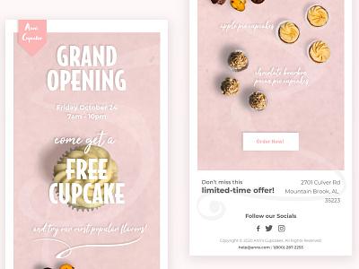 Anns Cupcakes identity xd ad design email ux branding type ui design