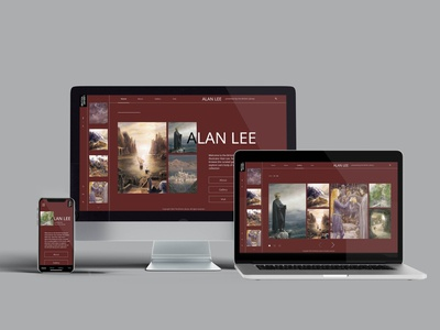 Alan Lee Microsite xd website web typography ux ui design