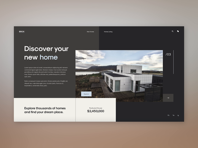 Real Estate Website Design using the Golden Canon Grid ladingpage prototype typography graphic design design website web grids branding ux animation minimal ui