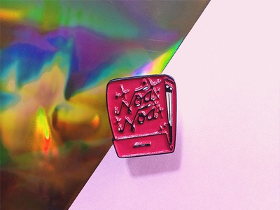 Noa Noa Enamel Pin 70s pink mexico pin enamelpin