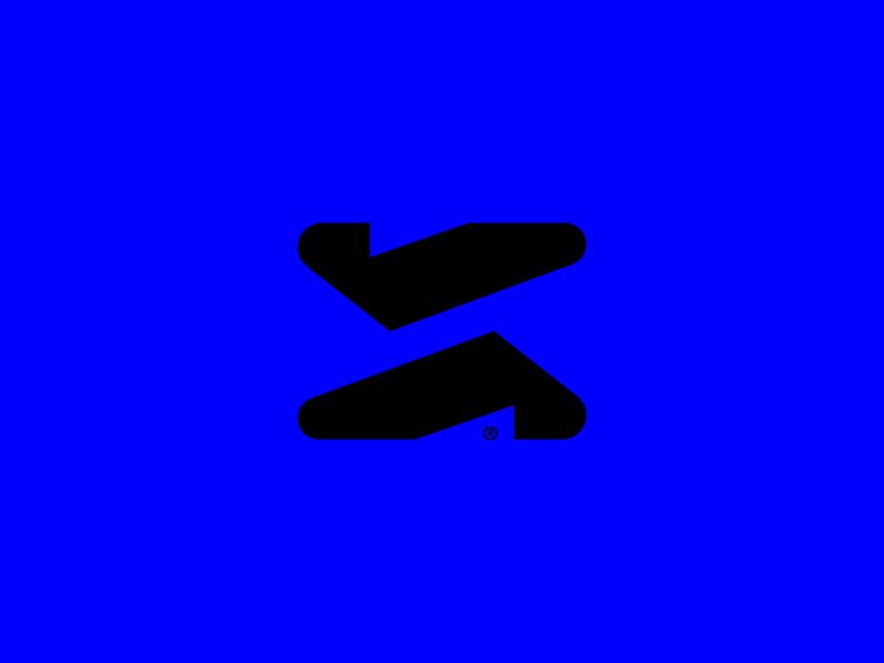 Edge Abstract Mark high-tech abstract futuristic future tech bold vector icon 365 mark design branding design branding logo minimal clean