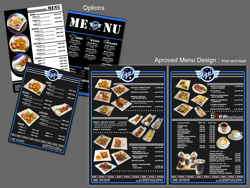 Migois final menu design advertisement advertising advertise branding design photoshop