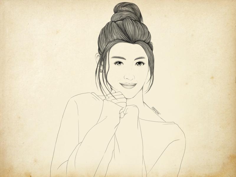 fanart : Liza Soberano actress liza soberano lizasoberano fanart sketch digitalart photoshop illustration