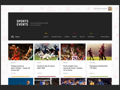 Sports events sport ui pattern