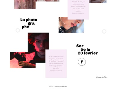 Dans les yeux de l'autre pink webdesign short movie artistic direction