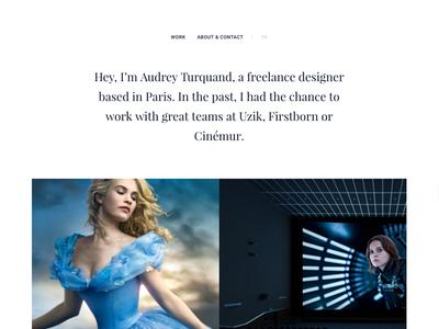 New folio + full-time freelance designer