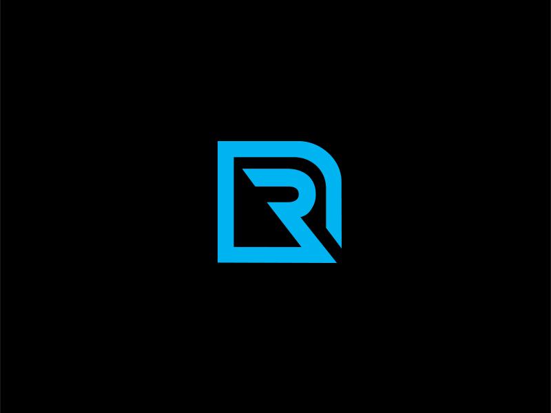 R Logo one color branding brand simple line logo building initial logo r