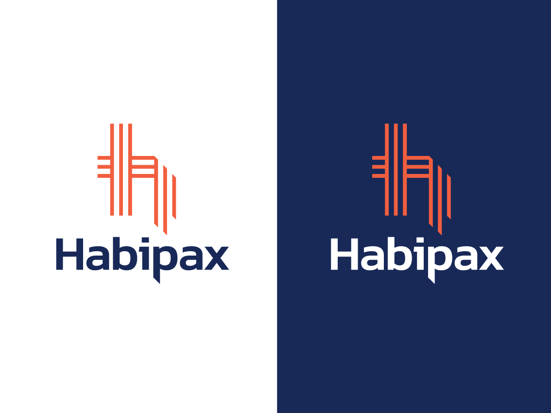 Habipax Logo Design nz weave h initial line style manufacturer thread cords woven logo