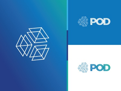 Pod Healthcare logo health extension pod space grow extend expand expansion cube