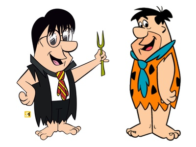 Harry Potter in 'The Flintstones' Era illustration cartoon illustration cartoon character cartoon 90s illustraion illustrator fred characterdesign character design the flintstones harry potter harrypotter