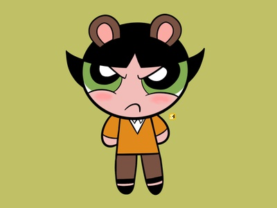 Buttercup in a KDrama korean korea cute buttercup kdrama character design power puff girls network cartoon illustration