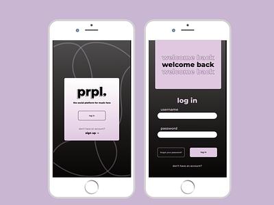 DAILYUI #1 - Log In / Sign Up app ui design