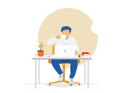 Don't be lazy and be productive! simple design illustrator vector logo illustration flat design branding art animation