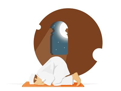 Ramadhan mount full of forgiveness. website simple design illustrator vector logo illustration flat design art animation