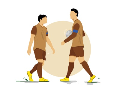 Duo captain, duo legend website simple design illustrator vector logo illustration flat design art animation