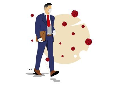 Stay healthy and stay safe minimal simple design illustrator vector logo illustration flat design art animation