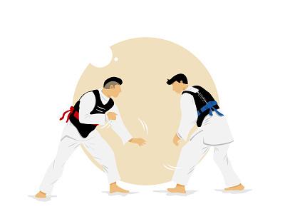 Silat-fighter branding simple design website illustrator logo illustration flat design art animation