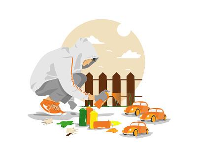 Let's make art! simple design illustrator minimal flat logo vector character illustration design art animation
