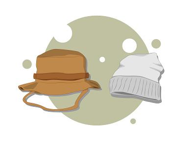 Adventurous hat mockup hat mountain simple design website vector illustration flat design art