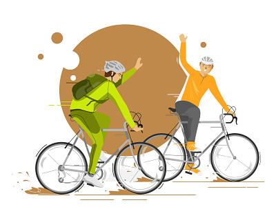Fun Bike workout healthy life illustration art simple illustration simple character website bike funbike character artwork illustrator simple design vector illustration flat art
