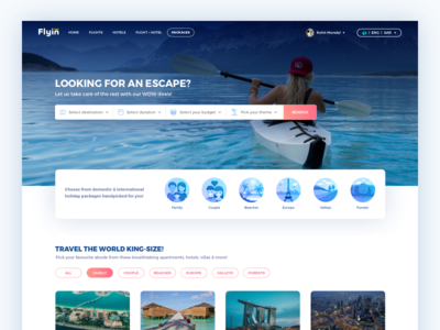 💎  Travel Packages Booking Page UI