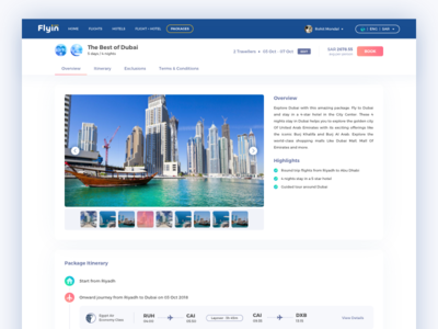 💎  Travel Package Review Page UI for Web