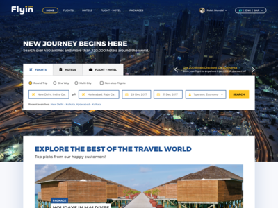 💎  Travel Booking - Landing Page Concept