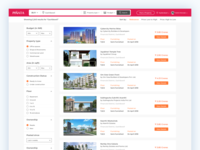 Real Estate Listing - Search Results Page