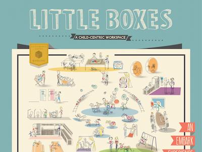 Little Boxes Master infographic sketch illustration