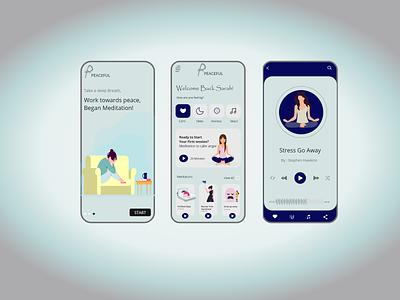 Meditation App uidesign uiux app design