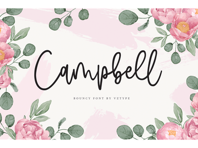 Campbell Font typewriting invitation typeface branding fonts bouncy scipt campbell