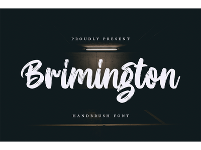 Brimington Font logotype script branding fonts handbrush brimington