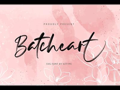 Batcheart Font cosmetic typeface logotype branding fonts svg script batcheart