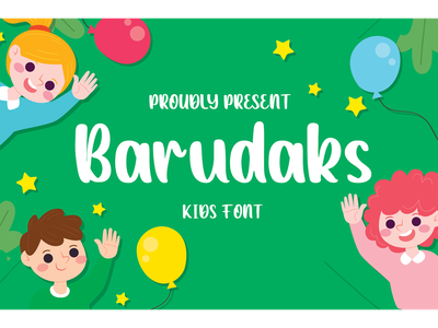 Barudaks Font typeface logotype cute fun display branding fonts font kids barudaks