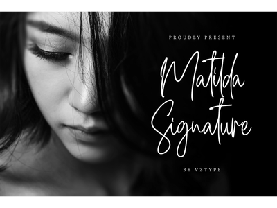 Matilda Signature Font greeting card invitation handwritting typeface logotype branding font script signature matilda