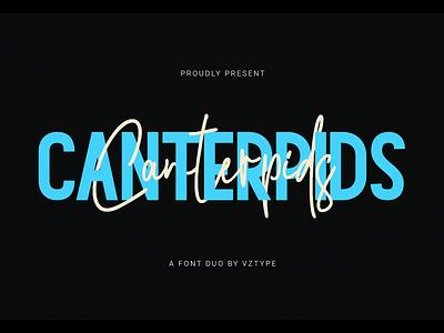Canterpids Font Duo foundry logotype landmark branding sans serif script signature font duo canterpids