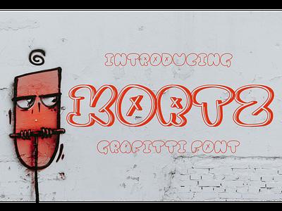 Kortz Font fonts typeface logotype branding display decorative grafitti kortz