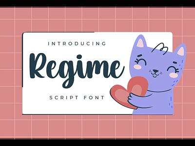 Regime Font fonts decorative logotype kids branding script handwritten regime